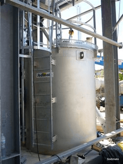 Soda Ash slurry tank in stainless steel