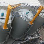 Lime slurry tank farm for decarbonation