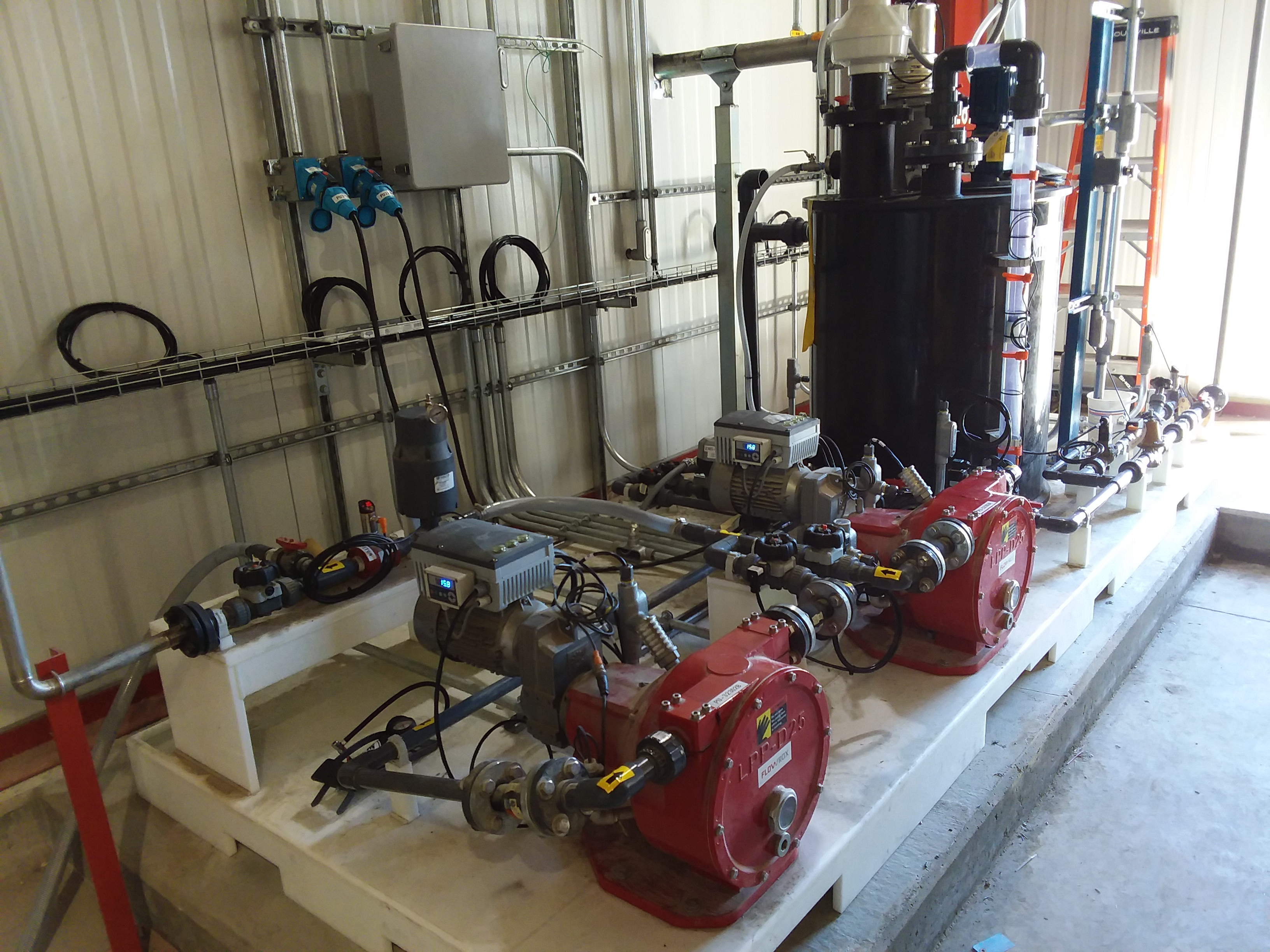 AJINIMOTO centrifugal pumping skid