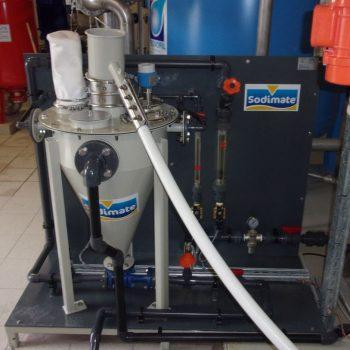 Liquid Eductor / Jet Pump skid with dry powder PAC feeder