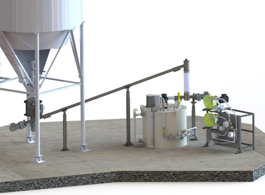 pump skid dry to slurry Sodimate